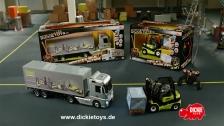 Dickie RC Mercedes-Benz Actros LKW/Truck, RTR + Clark Gabelstapler