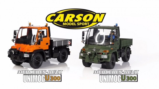 1:12 MB Unimog U300 orange & grün GHz 100% RTR (500907170, 500907174) DE