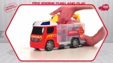 Fire Engine Push & Play - Feuerwehrauto und Tragekoffer - Dickie Toys