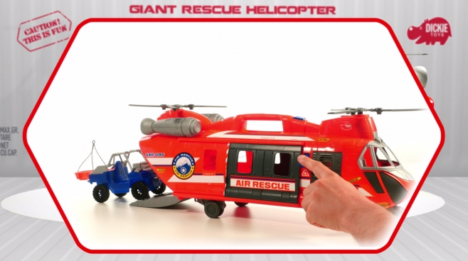 Giant Rescue Helicopter - Rettungshelikopter - Action Series - Dickie Toys