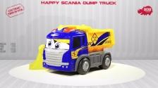 Happy Scania Dump Truck - Muldenkipper motorisiert - Dickie Toys