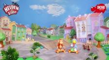 Helden der Stadt Spielzeug - Kasimir Krähe und Anton der Affe mit Skateboard