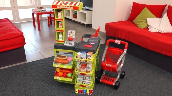 Sommerküche Smoby : Supermarkt mit einkaufswagen smoby video.simba dickie.com