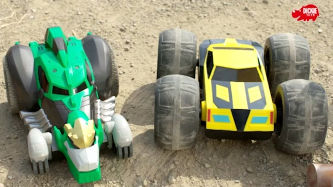 Transformers RC Flip `N`Race Bumblebee und RC Rumble Grimlock
