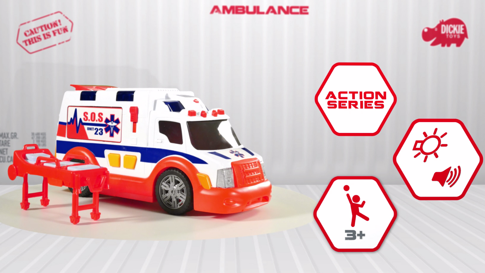 Action Series Ambulance - Krankenwagen - Ambulanz - Dickie Toys