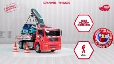 Air Pump Crane Truck - MAN Abschleppfahrzeug mit Kranarm - Dickie Toys