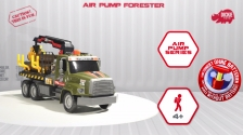Air Pump Forester - Holztransporter - Freightliner Forstfahrzeug - Dickie Toys