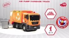 Air Pump Garbage Truck - MAN Müllabfuhr - Müllfahrzeug - Dickie Toys