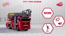 City Fire Engine - SOS - MAN Feuerwehrfahrzeug mit Wasserspritze - Dickie Toys