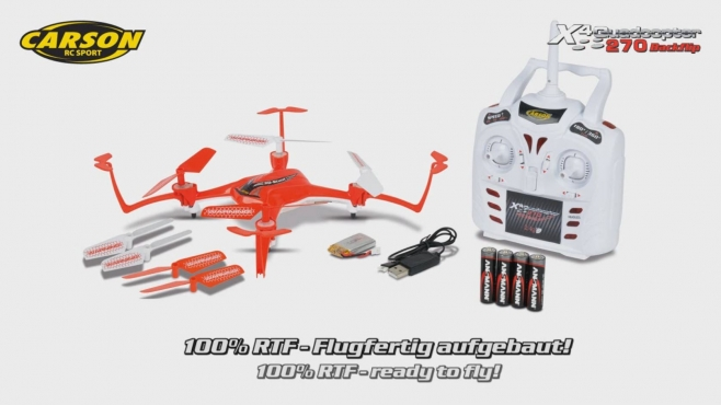 X4 Quadcopter 270 Backflip 2.4G 100% RTF (500507109) DE/EN