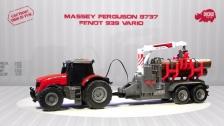 Fendt 939 Vario - Massey Ferguson 8737 - Spielzeugtraktoren - Dickie Toys