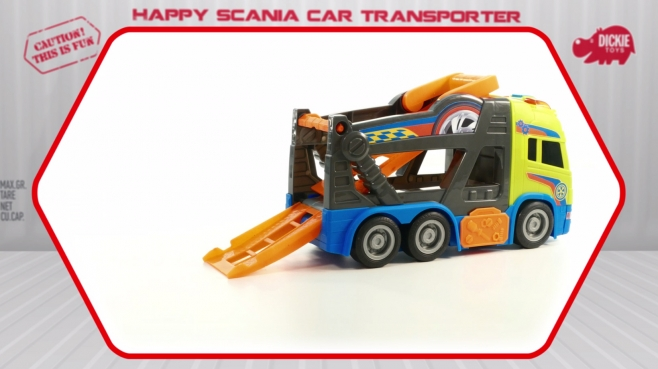 Happy Scania Car Transporter - Autotransporter - Dickie Toys