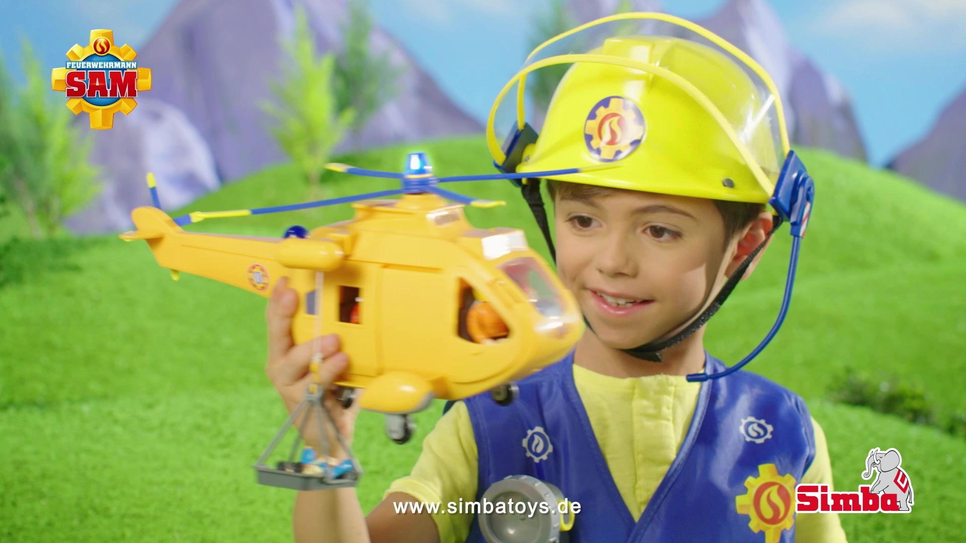 feuerwehrmann sam hubschrauber wallaby ii  simba toys