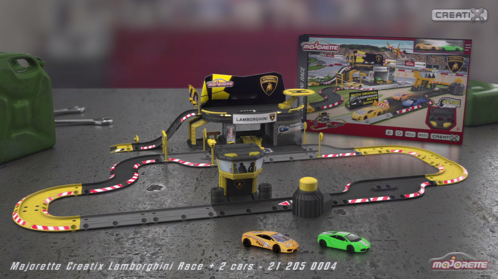 Majorette Creatix Lamborghini Race/Rennstrecke - Aufbauvideo/Instruction Manual