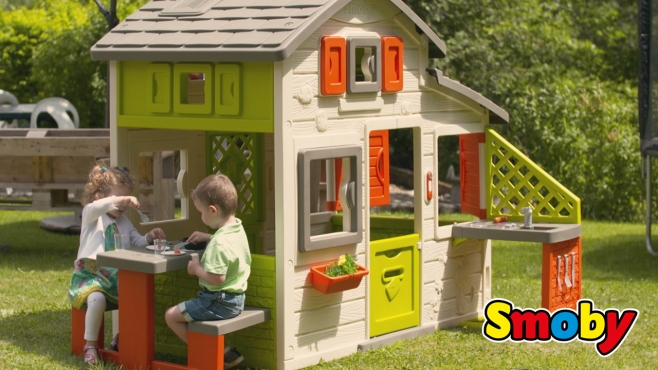 Naturhaus Mit Sommerküche Smoby : Friends haus mit sommerküche smoby video.simba dickie.com