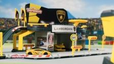 Majorette Lamborghini Race Creatix Station incl. 2 Cars Italy