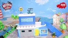 Helden der Stadt Spielzeug - Polizeistation inkl. Hektor Helikopter