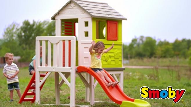 Spielhaus Mit Sommerküche Smoby : Traumhaus auf stelzen von smoby smoby video simba dickie