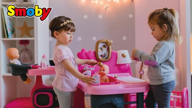 Sommerküche Smoby : Puppenheim für den kleinen liebling smoby video simba dickie