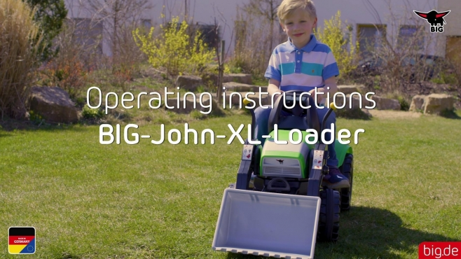 Operating instructions BIG John XL loading bucket