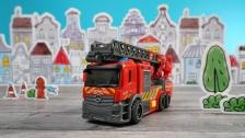 Kleine Feuerwehr mit Drehleiter von Dickie Toys