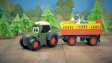 Traktor mit Tieranhänger von Dickie Toys