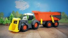 Großer Traktor mit Anhänger von Dickie Toys