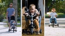 Dreirad-Buggy: Smoby faltbares Dreirad Robin bietet Sicherheit und Komfort