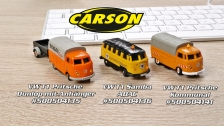 Carson 1:87 VW-T1 Busse (500504135, 500504136, 500504141)