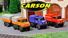 Carson 1:87 Mercedes Benz Unimogs (500504138, 500504139, 500504140)