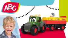 Bauernhoftraktor mit Tieranhänger für Kleinkinder von ABC