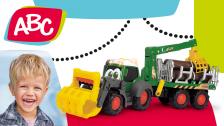Forsttraktor mit Anhänger für Kleinkinder von ABC
