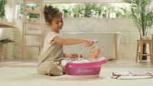 Zeit zum Baden kleiner Spatz! Baby Nurse elektronische Badewanne von Smoby