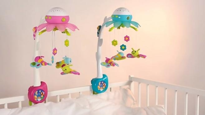 cotoons blumen mobile mit licht deckenprojektion und. Black Bedroom Furniture Sets. Home Design Ideas