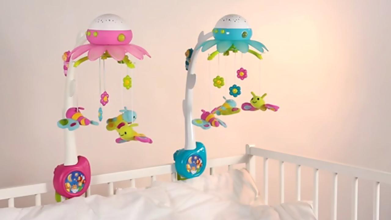 baby mobile mit musik und licht wohn design. Black Bedroom Furniture Sets. Home Design Ideas